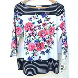 NWT Charter Club Floral Top